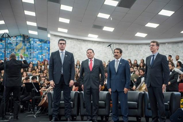 Martin Kuhn, Mourão, o presidente da Igreja Adventista em SP, pastor Domingos de Souza.