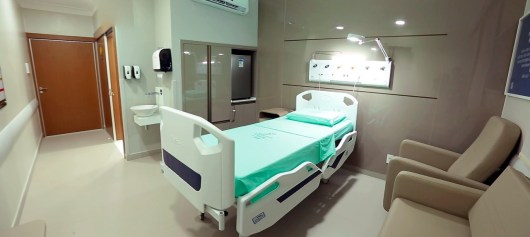 Novo Posto de Enfermagem possui 22 apartamentos-leitos no mais alto padrão de hotelaria hospitalar.