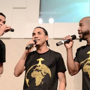 Black Singers fez apresentações musicais durante programa (Imagem: Renan Lima)