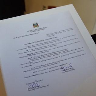 Lei assinada pelo governador Eduardo Leite