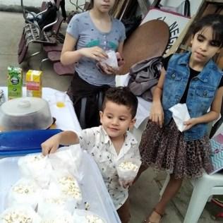 Crianças desfrutaram de uma deliciosa confraternização no final do evento (Foto: Arquivo Pessoal).