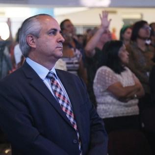 Presidente da USeB, Pr. Maurício Lima, prestigiou o evento. (Foto: Renata Paes).