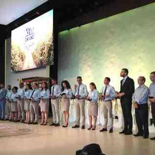 Equipe do projeto Um Ano em Missão recebe homenagens pelo trabalho desenvolvido ao longo do ano (Foto: Comunicação APL)