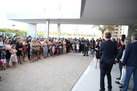Cerimônia contou com a presença de pais dos futuros alunos
