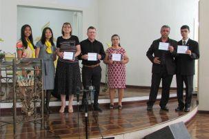 Seis adventistas da congregação concluíram a leitura da Palavra de Deus em 2019