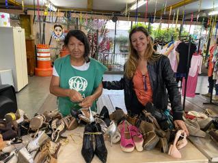 Doação de calçados fez parte da ação (Foto: Arquivo Pessoal)