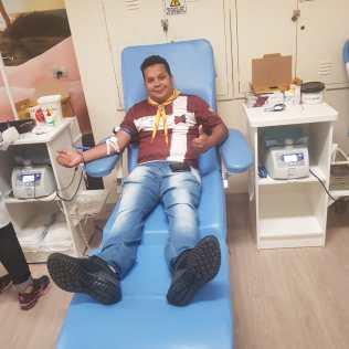 Doação de Sangue em Presidente Prudente. Foto: colaborador local
