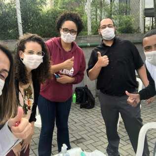 Voluntários realizaram ação no estacionamento de Igreja Adventista (Crédito: voluntários)