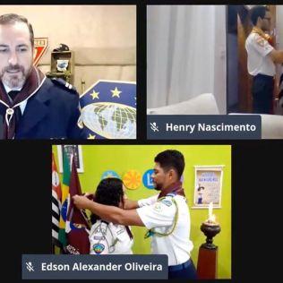 Investidura realizada na sexta-feira, 10, foi transmitida ao vivo pela internet, assim como os batismos (Imagem: Reprodução)..