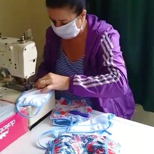 Costureiros tem trabalhado nas últimas duas semanas na confecção das 4 mil máscaras