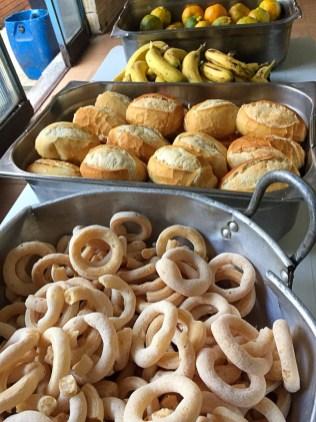 Café da manhã foi servido no dia da entrega (Foto: Arquivo pessoal)