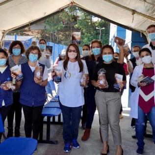 Enfermeiros foram homenageados em unidade de saúde de Joinville. [Foto: ASA da igreja adventista central de Joinville].