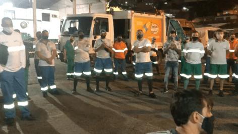 Em Florianópolis há 1,7 mil trabalhadores no serviço de limpeza pública
