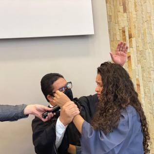Batismos marcaram programação.[Foto: Ana Luiza Ávila de Andrade].