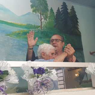 Batismo da dona Catharina, em Chapecó. [Foto: Arquivo de familiares].