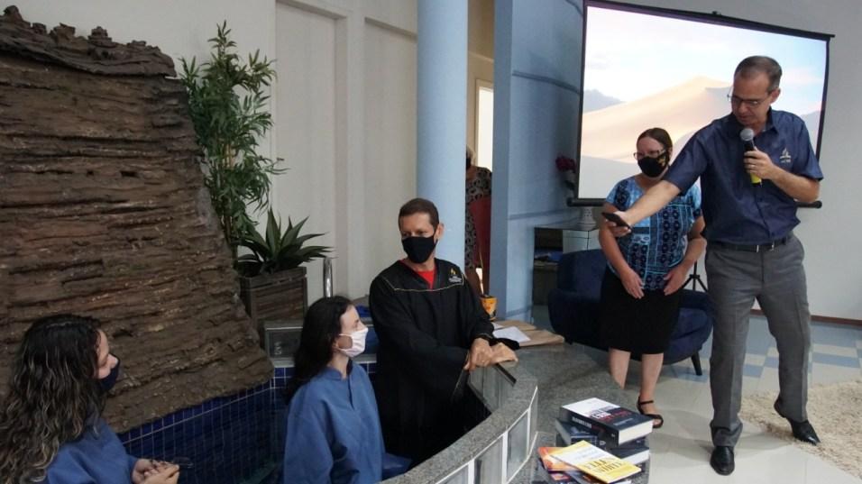 O treinamento em Ijuí também contou com um batismo
