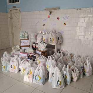 Todos os donativos entregues ao hospital. (Ivo Araújo)