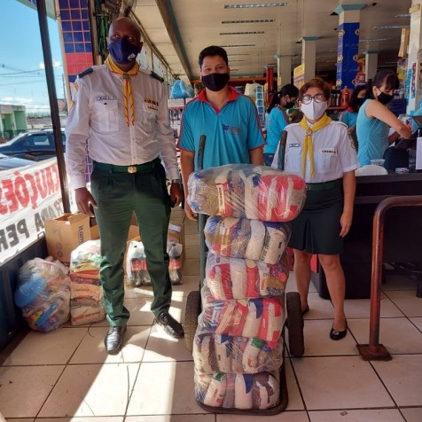 Cestas doadas por empresário de rede de supermercado em Igarapé. (Foto: Arquivo pessoal)