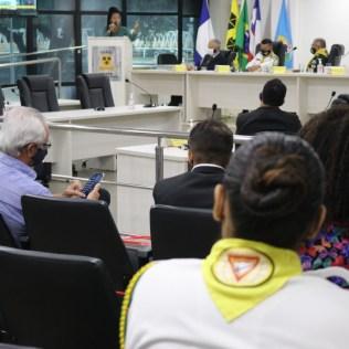 Em comemoração ao Dia Municipal do Desbravador, aprovado pela lei 2.384/17, uma representação dos desbravadores de Itabuna foi convidada para um sessão especial na Câmara de Vereadores, no dia 6 de maio. (Foto: Evellin Fagundes)