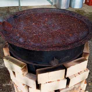 Feijoada vegetariana durante preparação. [Foto: Reprodução].