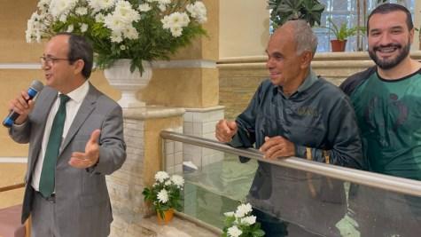Celebração e batismos na Igreja da Vila Ré contaram com a presença do pastor Edimilson Lima, líder do Ministério Pessoal da União Central Brasileira (Foto: Arquivo Pessoal).