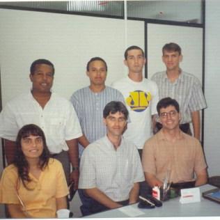 Primeira reunião da equipe da rádio Novo Tempo em Florianópolis. 1996
