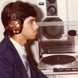 Primeira experiência no estúdio. 1985