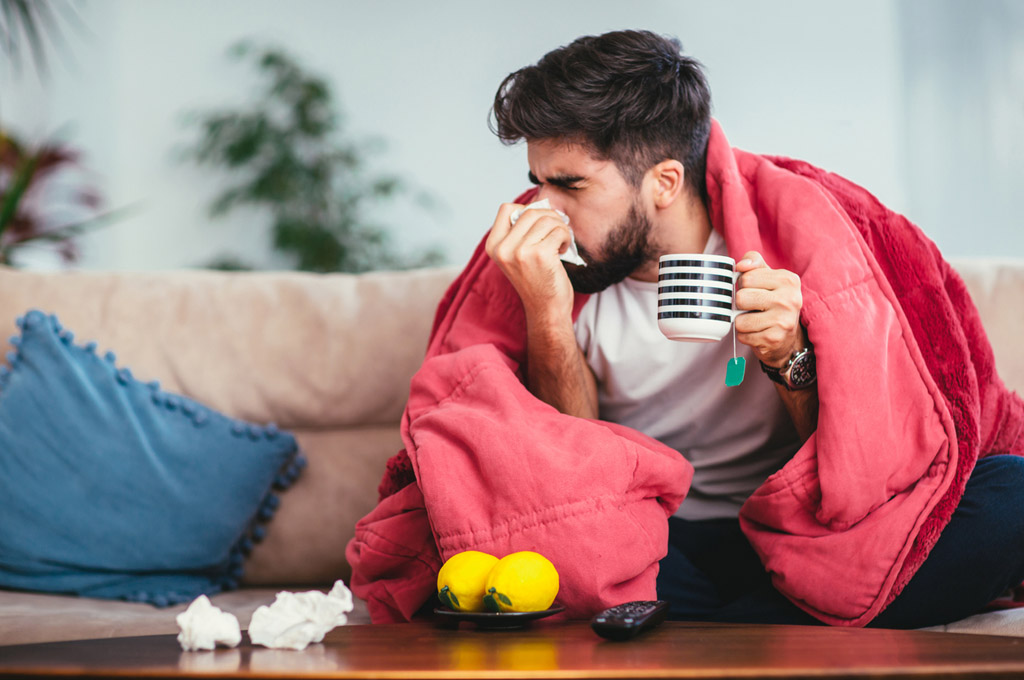 chás para gripe