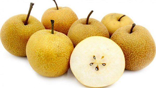Pera maçã, também chamada de pera Nashi, tem origem japonesa