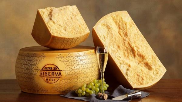 Grana Padano é um queijo delicioso de origem italiana