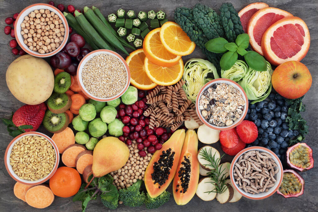 Frutas ricas em fibras