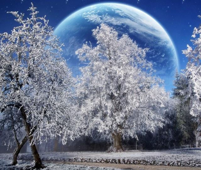 Magic Winter Wallpaper Photo Manipulated Nature Wallpapers