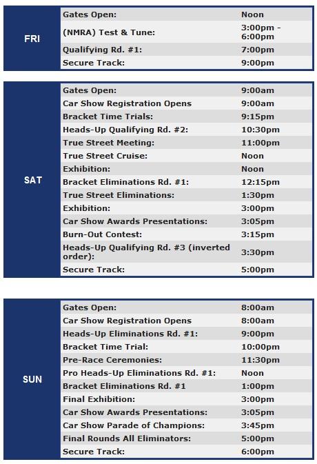 NMRA Atco schedule