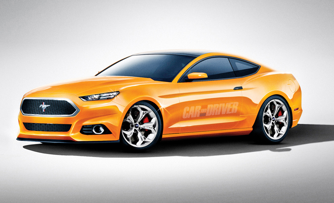Conceptual Rendering of 2015 Ford Mustang