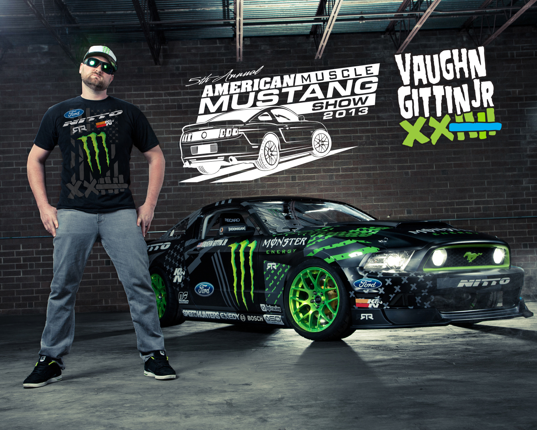 Vaughn Gittin Jr. - AmericanMuscle Mustang Show 2013