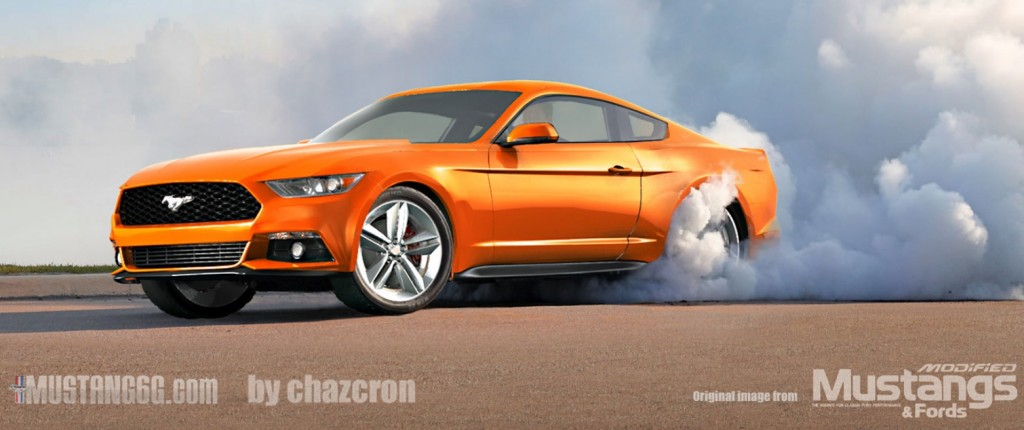 2015 Mustang Burnout Rendering