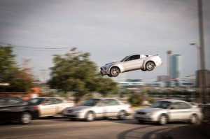 Need For Speed Mustang in Air
