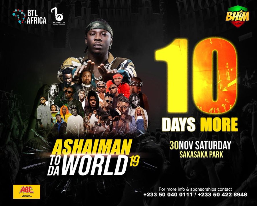 Sarkodie, Samini others to rock Stonebwoy's Ashaiman to the World Concert
