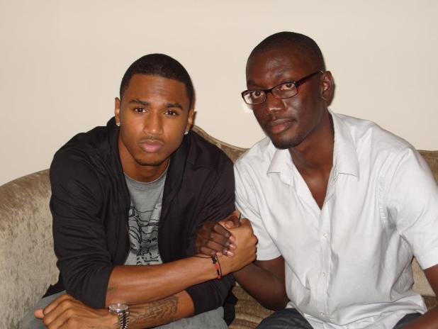 Ameyaw Debrah with Trey Songz