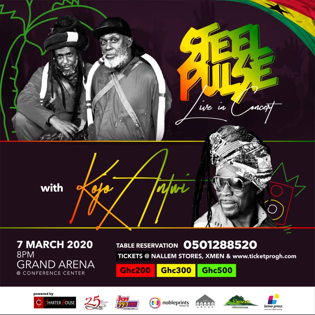 Steel Pulse and Kojo Antwi Independence Special!!!
