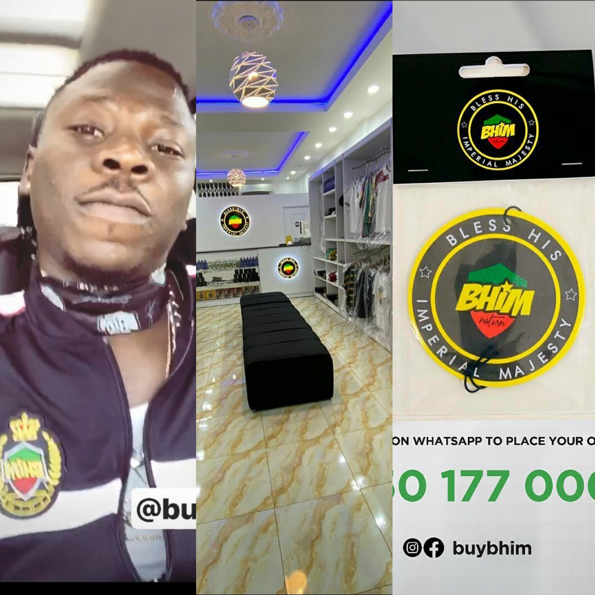 Photos: Stonebwoy's BHIM shop at Ashaiman officially opened