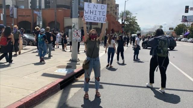 Los Angeles Protestor Photos courtesy of The Diaspora Dialogues
