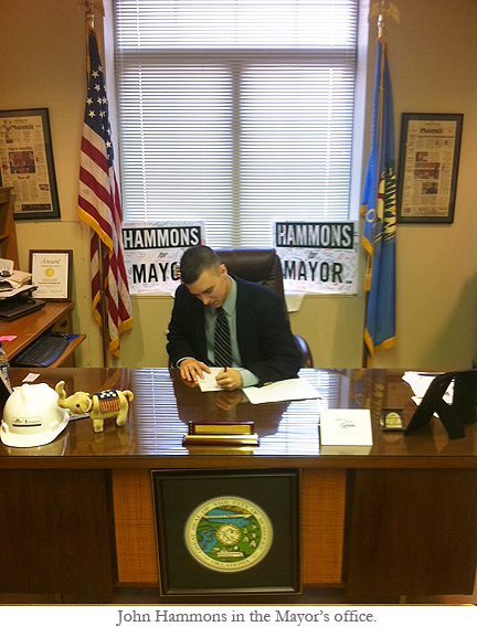 Administrative Leadership Graduate John Hammons in the mayoral office