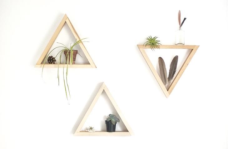 diy etagere triangle blog deco clem