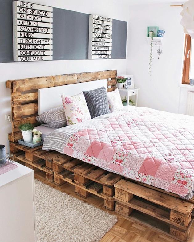 comment faire un lit en palette blog