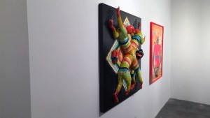 AJ Fosik's Crossed Tiger Relief at Jonathan Levine Gallery's Welcome to New Jersey