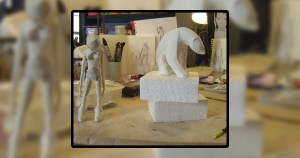 Ajee's Kosplay - Sculpting of The Girl & Polar Bear, circa 2010