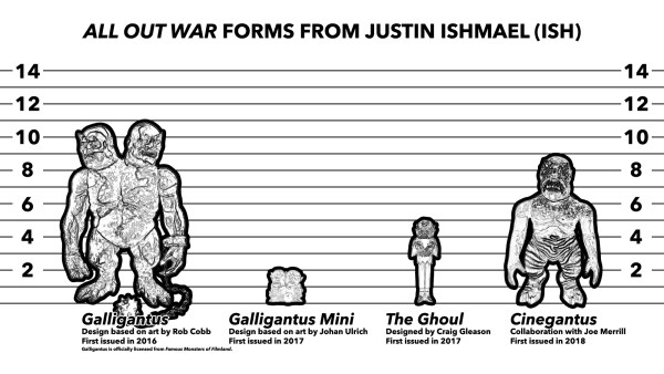 Examples of pieces from Justin Ishmael (ISH)