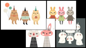 Andrea Kang's Boo Bear - examples of Kang's illustration work