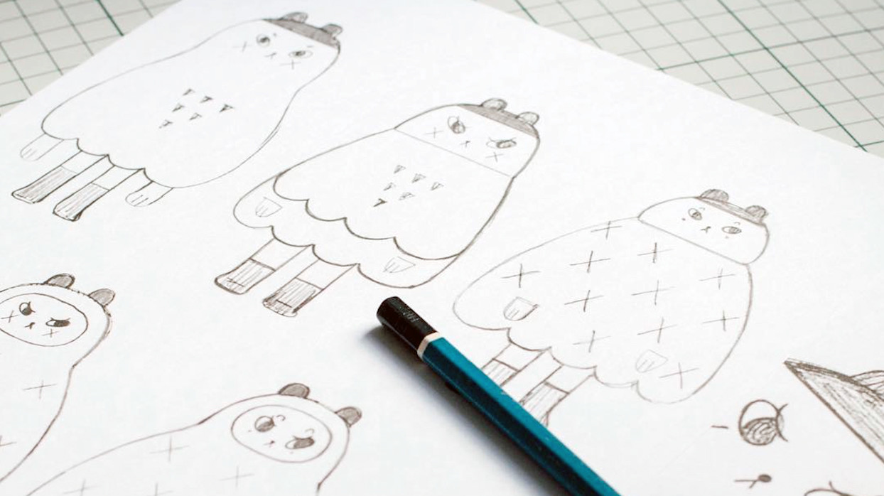 Andrea Kang's Boo Bear - example of Kang's character design process